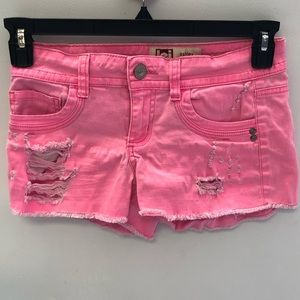 Destroyed LEI Ashley Low Rise Jean Shorts …